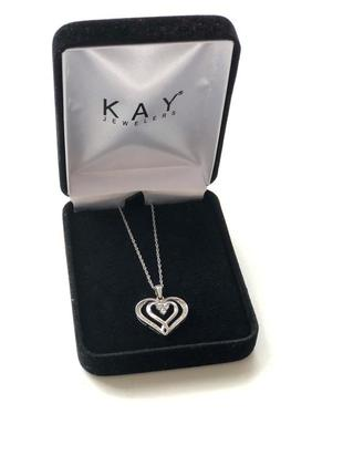 Подвеска сердце серебро kay jeweler