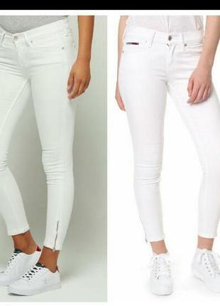 Tommy hilfiger джинсы скини белые