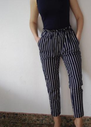 Штаны в полоску брюки полоска летние