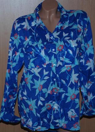 Блуза принтованая бренда gap /100%хлопок/