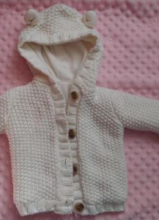 Вязаная кофта / свитер с ушками