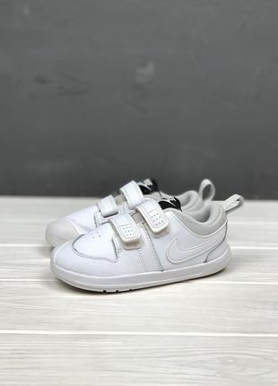Кеды кроссовки nike pico 5 original детские 25 размер идеал закрытые белые