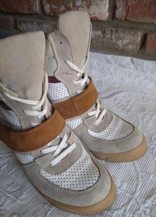 Кожаные ботинки/кроссовки