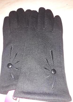 Перчатки женские трикотажные на махре