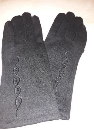 Перчатки трикотажные на искусственном кролике