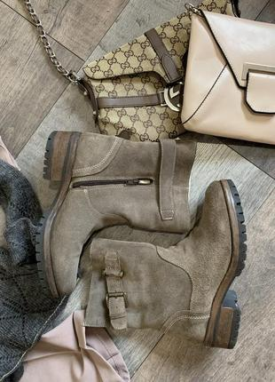 Ботинки натуральный замш new look