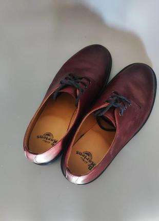 Шикарные туфли вечная классика dr. martens 1461 cherry red кожа