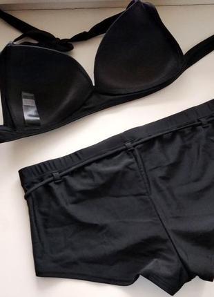 40р. сборный купальник, лиф с драпировкой и шорты f&f4 фото