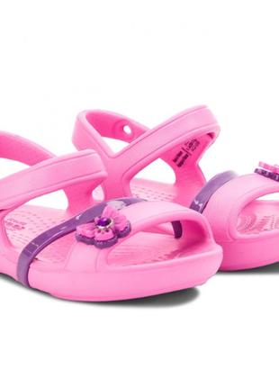 Босоножки розовые кроксы crocs lina sandal