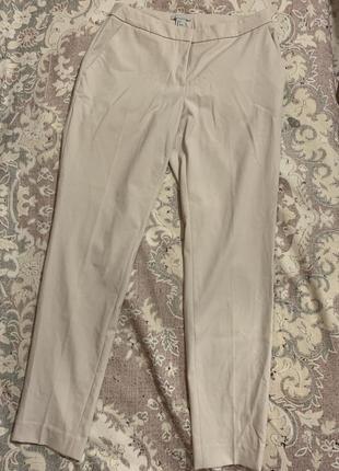 Бежевые брюки h&m