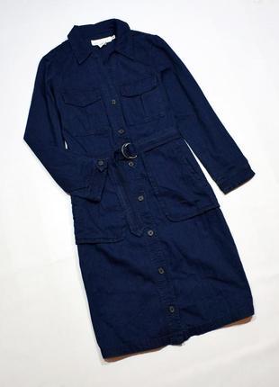 Темно-синє джинсове плаття-сорочка