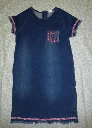 Платье джинс f&f kids с вышивкой 12-13лет