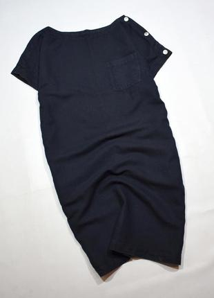 Джинсове плаття оверсайз з кишенями і гудзиками
