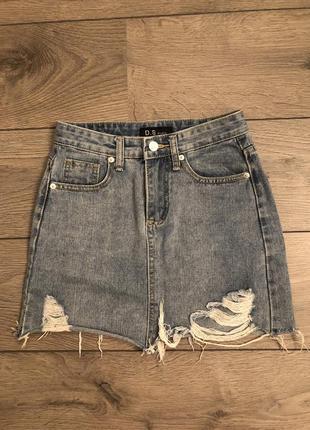 Юбка джинсовая/спідниця джинсова