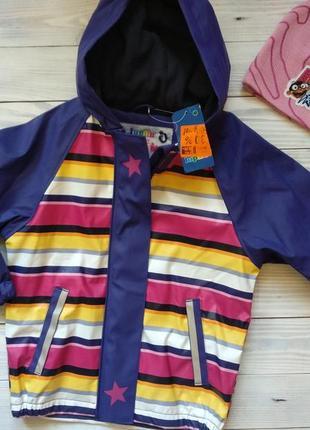Курточка дощовик на флісі 98/104