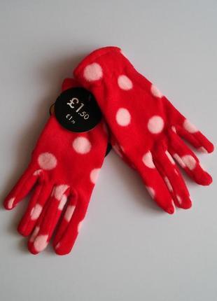 Флисовые перчатки f&f, 19 см