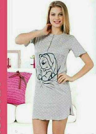 Женская ночная рубашка хлопковая sispark
