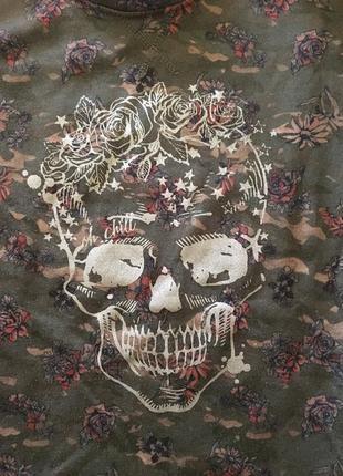 Кофта свитшот с черепом