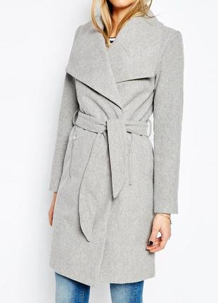 Пальто с широкими лацканами vero moda c демисезон