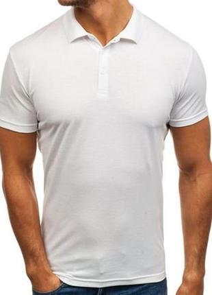 Стильна біла футболка поло)