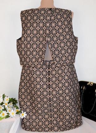 Бронзовое нарядное миди платье marks & spencer limited edition большой размер этикетка2 фото