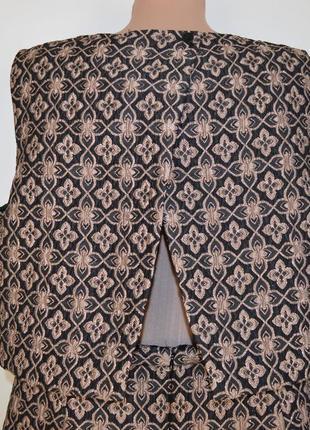 Бронзовое нарядное миди платье marks & spencer limited edition большой размер этикетка5 фото