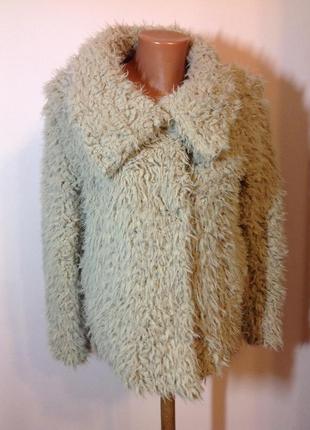 Тёплая искусивенная курточка- шубка/s/ brend primark