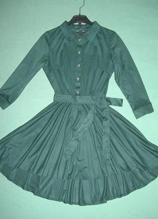 Платье из эко замши.