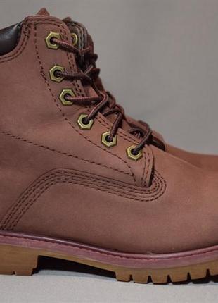 Ботинки timberland waterproof женские кожаные. оригинал. 37 р./23 см.