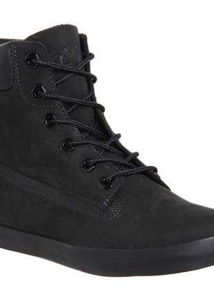 Timberland womens черные ботинки! кожа 38 размер.