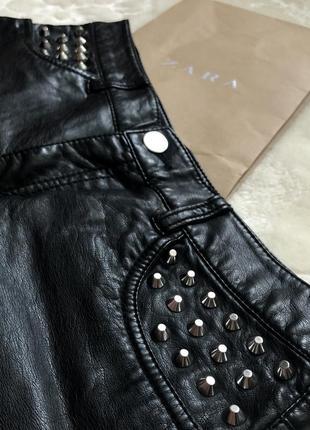 Кожаные шорты h&m3 фото