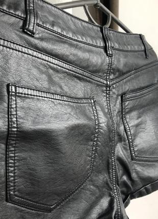 Кожаные шорты h&m5 фото