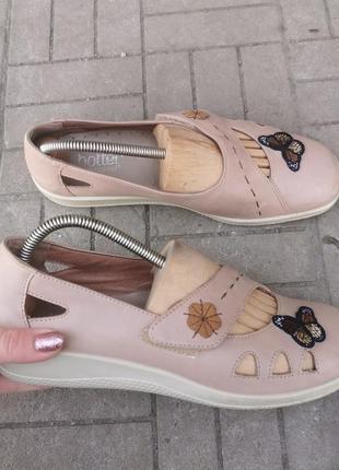 Кожаные туфлитуфли фирмы hotter 41 размер 27 см