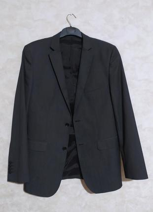 Новый серый пиджак zara man, l
