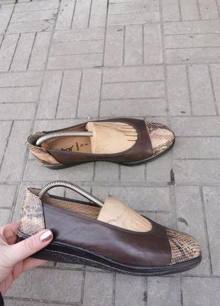 Кожаные туфли фирмы gabor  41 размер (7ка)26-26,5см