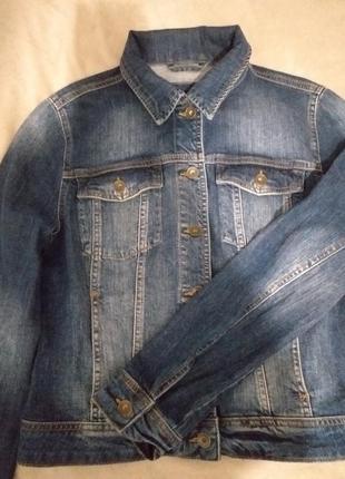 Джинсовая курточка пиждак размер s m