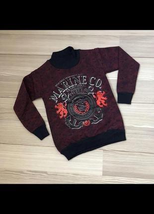 Утепленный свитер с начесом marine