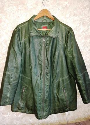 Яркая куртка из эко-кожи размер 22