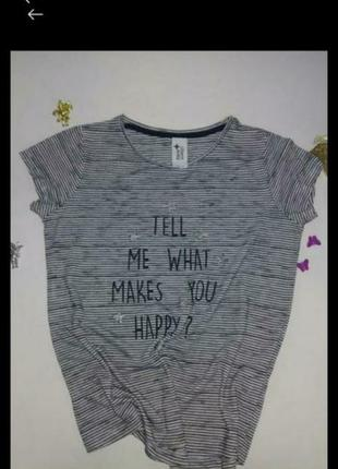 Стильная футболка меланж.