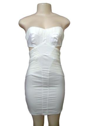 Нарядное платье бюстье asos с драпировками, маленький размер