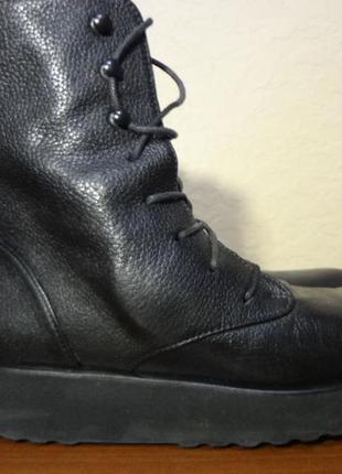 Демисезонные кожаные ботинки на платформе homers artisan 38 размер