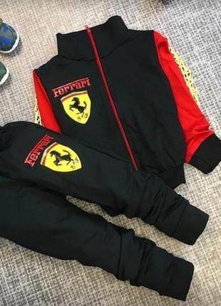 Осталось всего 5 костюмов продам детские спортивные костюмы ferrari.цвет красный и черный