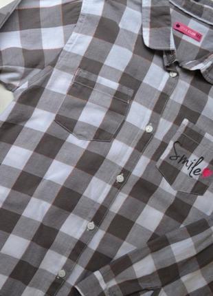 Лёгкая рубашка в клетку на девочку