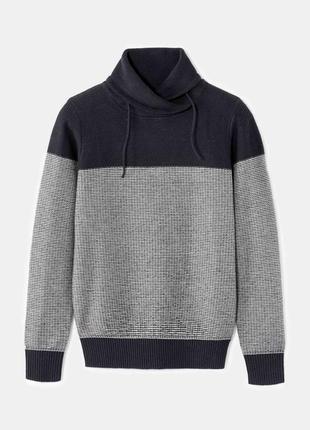 Хлопковый свитер с объемным воротом celio