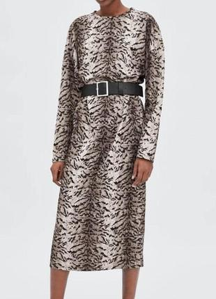 Шикарное платье миди zara