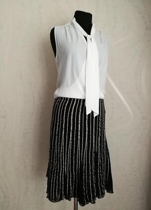 Оригинальная шёлковая юбка миди karen millen
