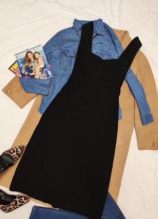 Julien macdonald чёрное платье резинка футляр карандаш миди эластичное