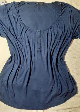 Блуза блузка футболка свободная свободного кроя трикотажная рукав укороченный 3\4
