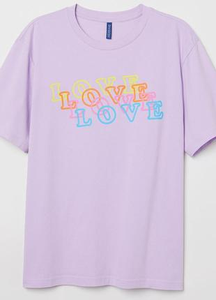 Стильная футболка унисекс love h&m s/m