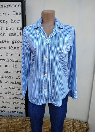 Пижамная рубашка в пижамном стиле полоска оригинал бренд ralph lauren